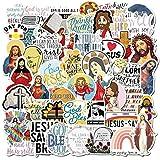 SUNYU 50 Uds Jesús Christian oración Pegatinas de Dibujos Animados Juguete Equipaje PVC Pegatina Motocicleta y Equipaje Cuaderno bendición Pegatina