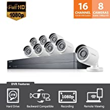 SDH-C75083 - Samsung Wisenet 16 Channel Full HD Video All-in-One Security System with 8 Bullet Cameras (Renewed)