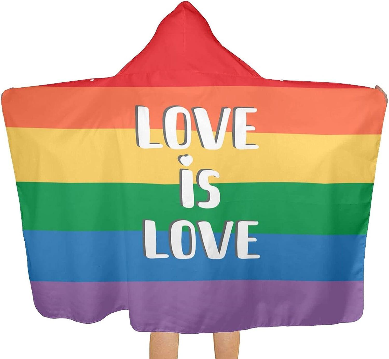 Rainbow Gay Pride Flag Raleigh Mall Printed Love Hoo Towel Beach with is Max 43% OFF