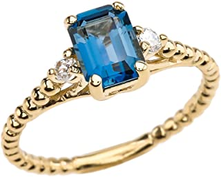 Best london blue topaz ring yellow gold Reviews