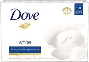 Dove White Original Beauty Soap Bar 4 Oz Each (16 Count)