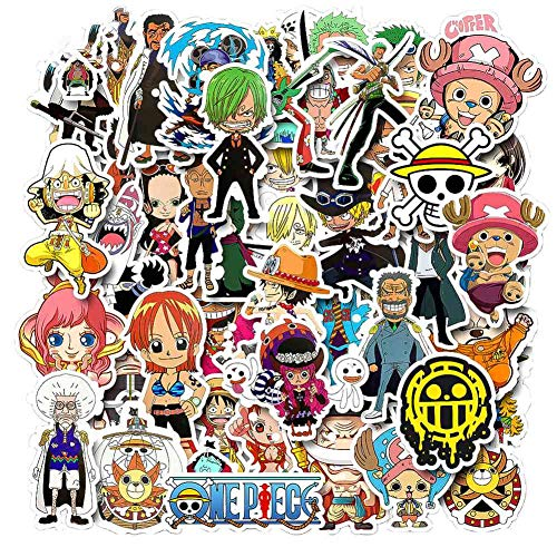Templom SIX Anime Cartoon Bumper Patches Abziehbilder Auto Aufkleber Motorrad Fahrrad Skateboard Gepäck Telefon Pad Laptop Aufkleber, 50 Stücke(One Piece)