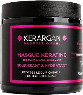 Kerargan - Masque à la kératine et à l'huile d'Argan soin capillaire réparateur, nourrissant, hydratant, sans sulfate, san...