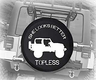 The Pink Skulls and Cross Bones of The Pirate Spare Wheel Tire Cover Polyester Universal Wheel Covers for Jeep Trailer RV SUV Truck Camper Travel Trailer Accessories