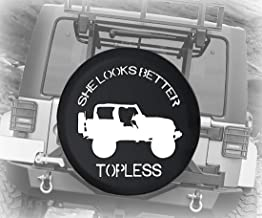 Jeep Tire Cover for Spare Tire Jeep Wrangler JK TJ itter Topless Road Black 33 Inch