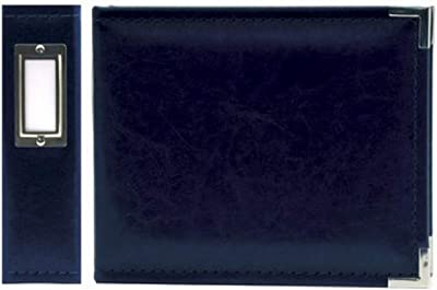 """We R Memory Keepers 40395-1 Classic Leather 3-Ring Binder Album, 6 by 6"""", Navy"""