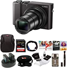 Panasonic Lumix DMC-ZS100 Digital Camera Bundles (Premium Bundle, Black)