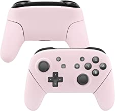 eXtremeRate Sakura Pink Faceplate Backplate Handles for Nintendo Switch Pro Controller, Soft Touch DIY Replacement Grip Housing Shell Cover for Nintendo Switch Pro - Controller NOT Included