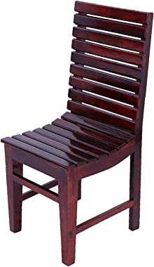 Cherry Wood Sheesham Wood Study Dining Chair for Home and Living Room (Mahogany Finish)