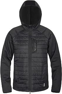 Lesmart Men Lightweight Warm Puffer Jacket Winter Down Jacket Thermal Hybrid Hiking Coat Water Resistant