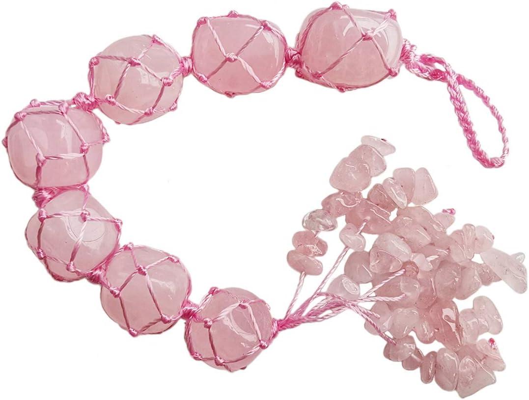 Gemgogo Rose Quartz Crystal Reiki Healing Quality inspection Palm Quantity limited Gemstones