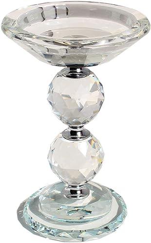 HINGMEI Candle Holders Crystal Glass Votive Pillar Candlesticks, Christmas Home Kitchen Decor, Wedding Centerpieces T...