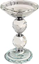 HINGMEI Candle Holders Crystal Glass Votive Pillar Candlesticks, Christmas Home Kitchen Decor, Wedding Centerpieces Tabletop Accessories, Gift Idea (Clear)