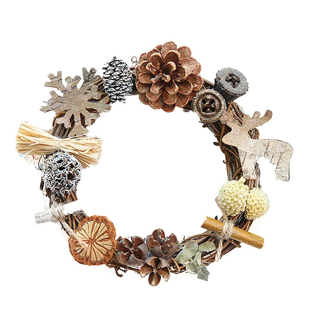 Falllea 12 anelli per ghirlande in legno di bamb/ù di 6 misure floreali a cerchio per fai da te acchiappasogni decorazione per ghirlande e decorazioni da parete