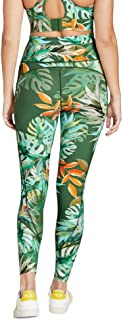 Rockwear Activewear Women's Luau Fl Printed Mesh Pocket Tight from Size 4-18 for Full Length Bottoms Leggings + Yoga Pants...