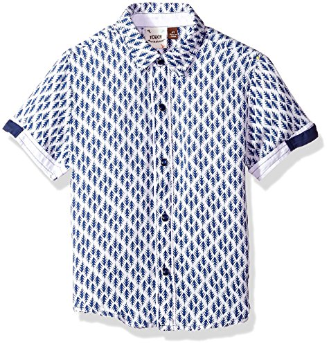 Fore Axel & Hudson Boys' Arrow Print Shirt, Navy, 4T