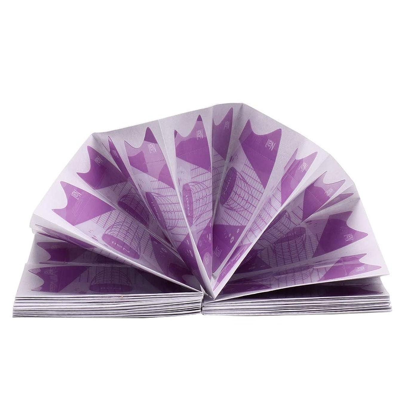 文請願者ポインタ100個ポータブル再利用可能なPP素材ネイルアートのヒント - エクステンションガイドUVジェル自己粘着ステッカーマニキュアツール