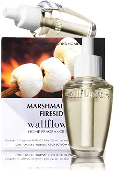 Bath Body Works Slatkin Co Marshmallow Fireside Wallflower Home Fragrance 2 Bulb Refills