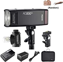 Godox AD200Pro Pocket Flash with Double Head, 2.4G Wireless System 1/8000s HSS, 200Ws with 2900mAh Lithium Battery Compatible with Canon Nikon Sony Fuji Olympus Panasonic Pentax Camera