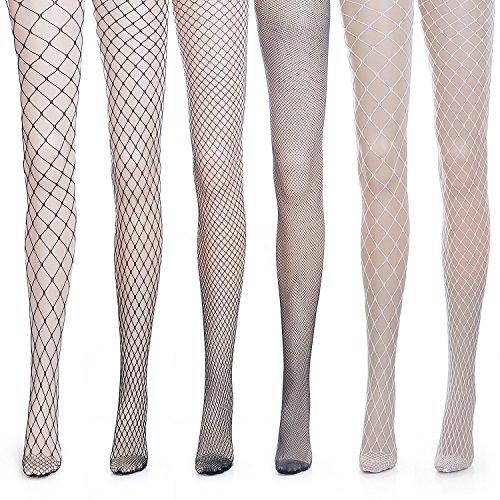 ZEWOO 6 paio Donna Calze a Rete Sexy Moda Vita Alta Nylon Nero Collant Calzini Corti Calze Fishnet Socks