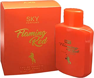Flamming Red by Sky Parfums For - perfume for men - Eau De Toilette, 100ml
