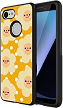 Google Pixel 3 Case Cartoon Omelette PC and TPU Shockproof Slim Anti-Scratch Protective Dual Layer Rugged Case Non-Slip Grip Case for Google Pixel 3