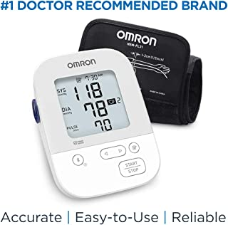 Omron Silver Blood Pressure Monitor, Upper Arm Cuff, Digital Bluetooth Blood Pressure..