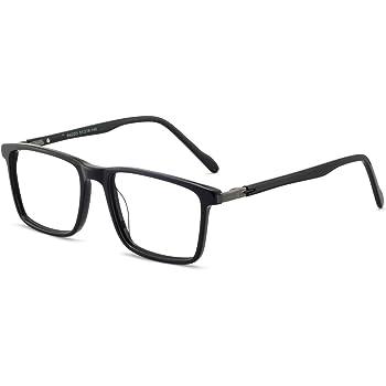 Amazon.com: OCCI Men eyewear frame Eyeglasses Square Glasses Clear Lense Glasses  Men 52mm Bright black: Clothing