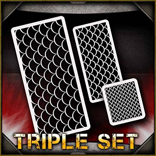 Fish Scales AirSick Airbrush Stencil Art Template