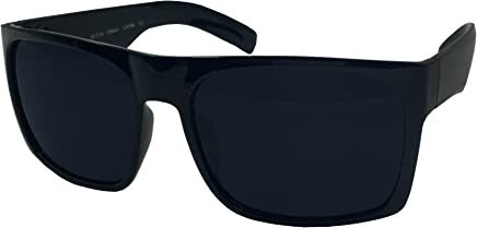 93cdc300956 XL Men s Big Wide Frame Black Sunglasses - Extra Large Square 148mm