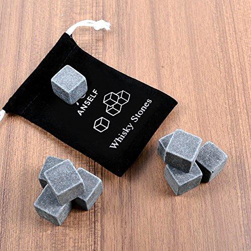 Anself 9er Set Whiskey-Steine aus natürlichem Speckstein - 4