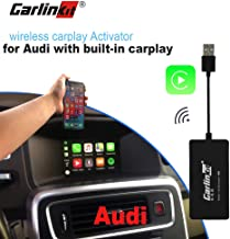 carlinkit carplay dongle Original car Wireless carplay Activation Adapter for Audi A4 Q7 Radio with Wired carplay Support Steering Wheel Button