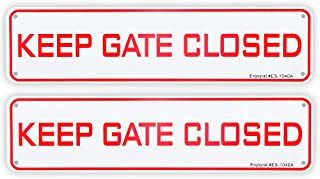 2 Pack Keep Gate Closed Sign, 12