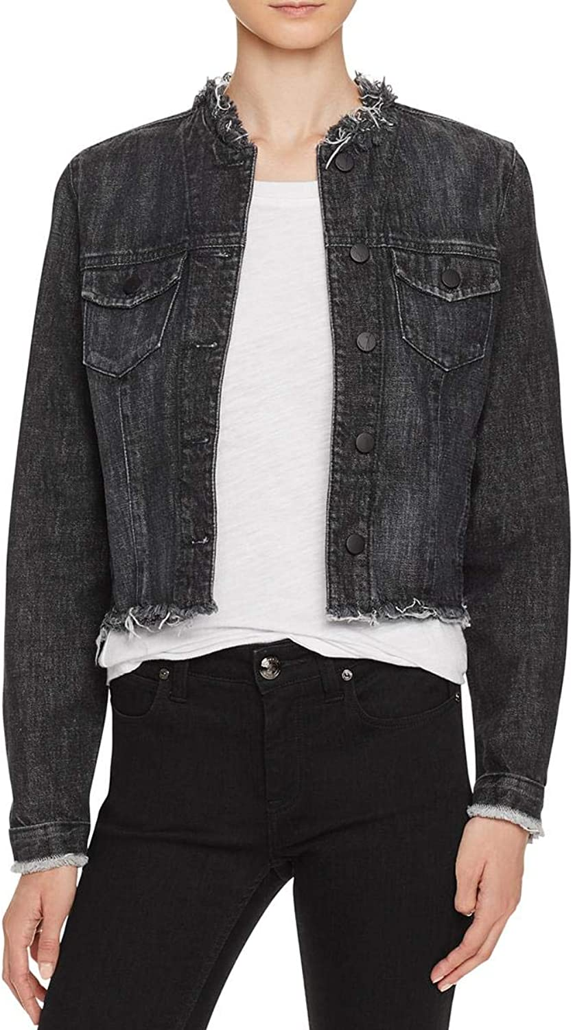 Nobody Womens Spring Denim Jean Jacket