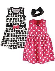 Hudson Baby Girl Dress and Headband Set