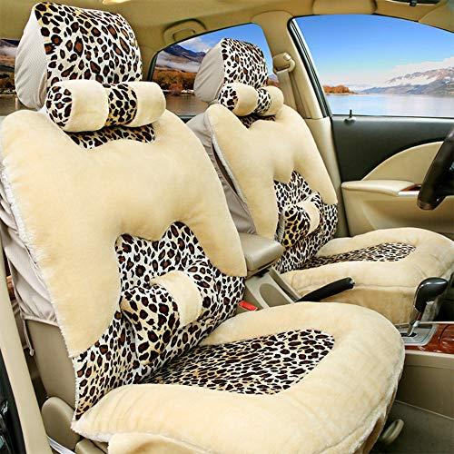 TUBULARLIGHT Auto sitzkissen autositzbezug, plüsch weich warm Auto vorne und hinten Schutz pad
