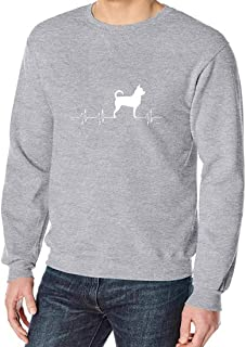 YEMOCILE Unisex Fashion Dog Pattern Printed Long Sleeve Pullover Tops Casual Solid Color Sweatshirt Classic Outerwear