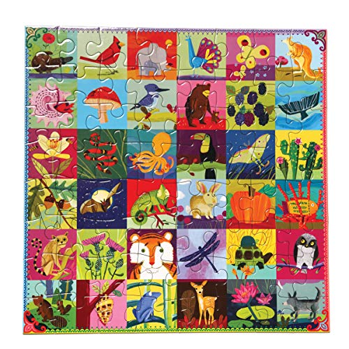eeBoo Portraits of Nature Puzzle for Kids, 64 Pieces