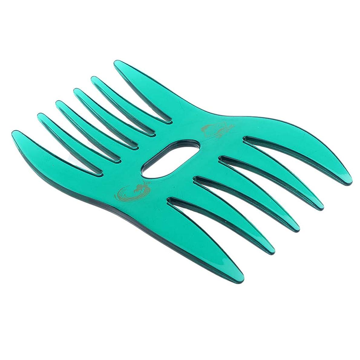 無視できるラッチダースB Baosity ヘアコーム ヘアブラシ デュアルサイド櫛 ワイド 細かい歯 ヘアサロン 自宅用 4色選べ - 緑