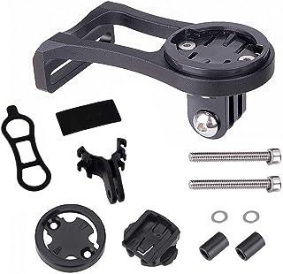 JT Soporte de aleación de aluminio para ordenador de bicicleta, soporte de extensión de tallo de bicicleta para cámara deportiva GPS cronómetro