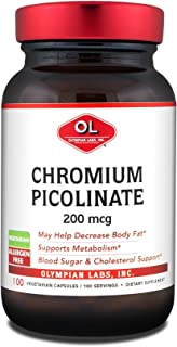 Olympian Labs Chromium Picolinate, Chromate, 200mcg