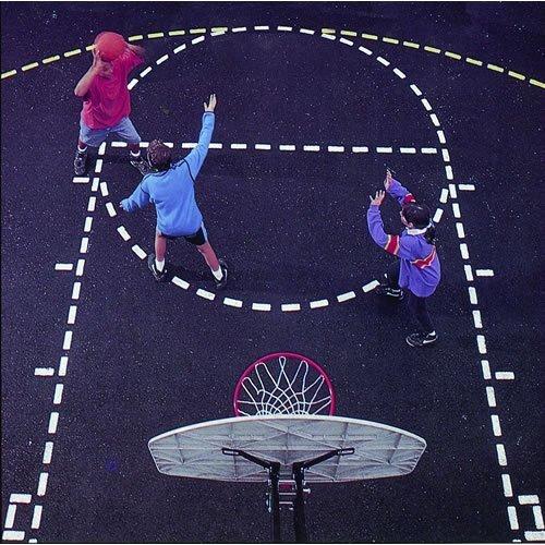 Jaypro Sports Basketball Court Stencil in Black