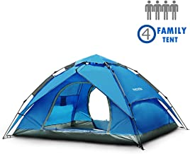NACATIN 3-4 Person Family Camping Tent,Automatic Instant...