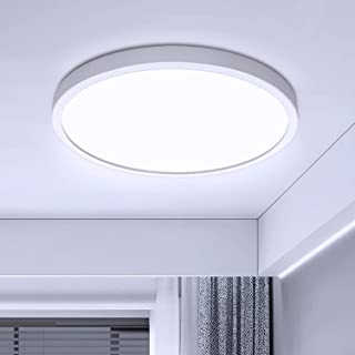 Plafonnier LED Moderne 28W Ketom Rond Luminaire Plafonnier LED Blanc Froid 6500K Lampe de Plafond LED Slim, 2520LM Luminai...