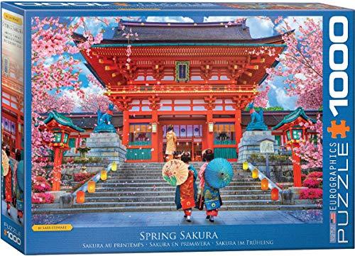 1000-Piece EuroGraphics Jigsaw Puzzles (Spring Sakura or Plush Petals Florist) $10 Each + FS w/ Amazon Prime or FS on $25+