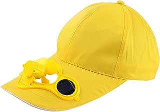 JESPER Camping Hiking Peaked Cap with Solar Powered Fan Baseball Hat Cooling Fan Cap