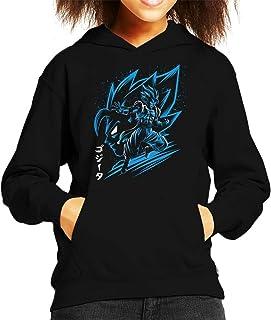 Cloud City 7 Inking Gogeta Azul Dragon Ball Z Kid's Hooded Sweatshirt