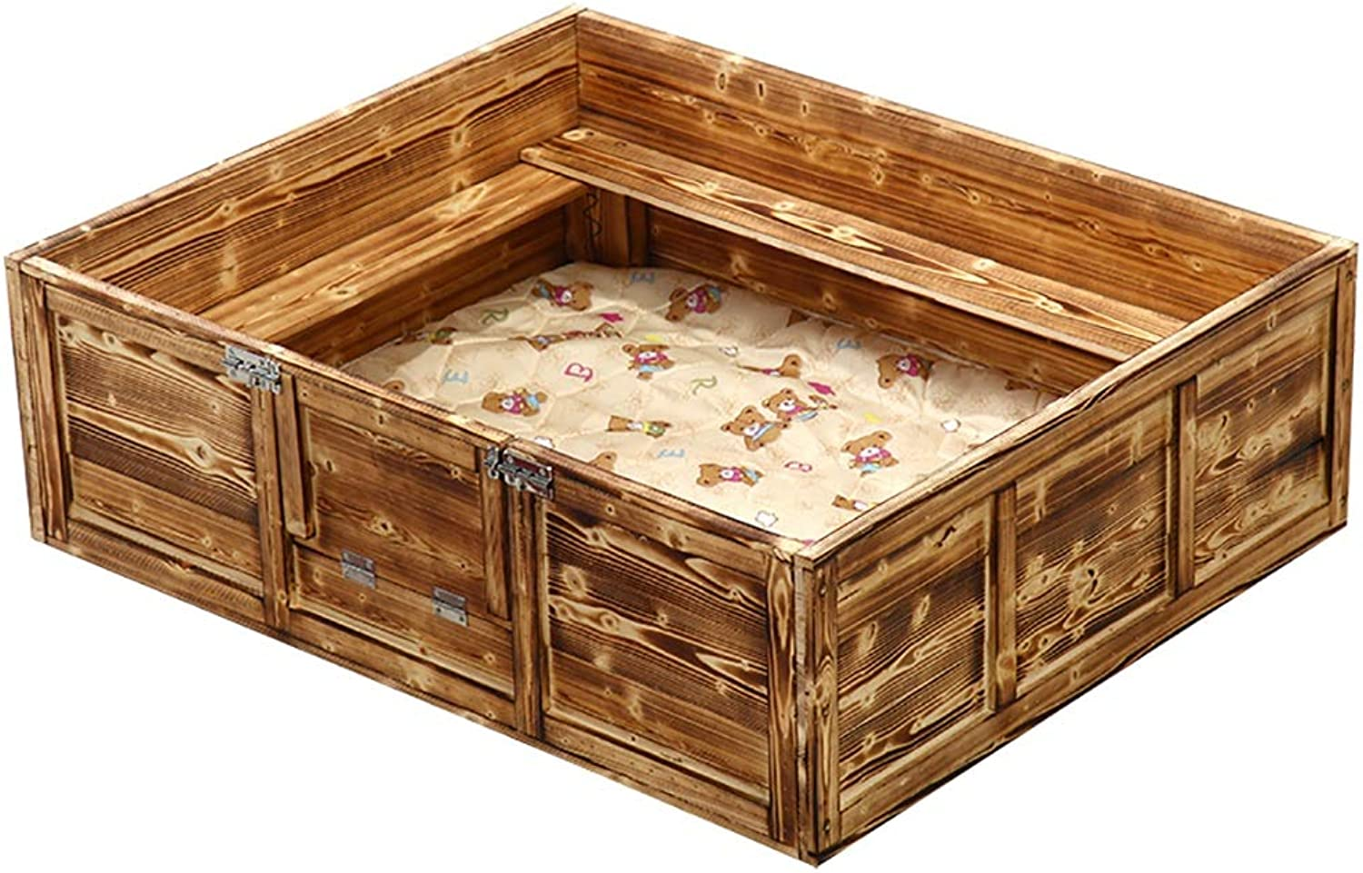 FPigSHS Kennel Dog bed Dog box pet bed Pet house Cat nest delivery room Pet supplies Indoor and outdoor Solid wood (color   A, Size   65  45  30CM)