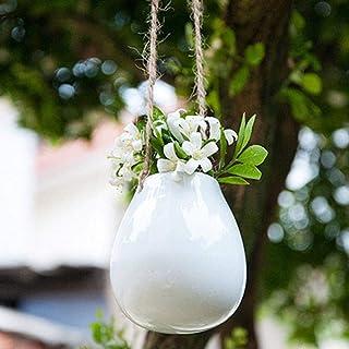 QFERW Vase 2019 última Planta de cerámica Caliente Maceta Bombilla Florerodecoración del hogar Blanco