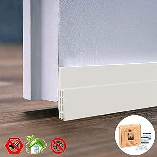 IDEALCRAFT Door Draft Stopper, Under Door Seal Strip, Energy Efficient Door Weather Stripping,Suitable for Gap Under 1 Inch, 2